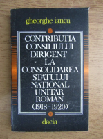 Gheorghe Iancu - Contributia consiliului dirigent la consolidarea statului national unitar roman