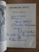 Gheorghe Pitut - Noaptea luminata (dedicatia si autograful autorului)