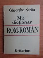 Gheorghe Sarau - Mic dictionar rom-roman