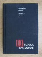 Anticariat: Gheorghe Sincai - Hronica romanilor (volumul 1)