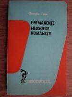 Gheorghe Toma - Permanente filosofice romanesti