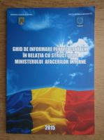 Anticariat: Ghid de informare pentru cetateni in relatia cu structurile Ministerului Afacerilor Interne