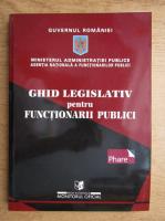 Anticariat: Ghid legislativ pentru functionarii publici