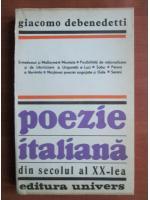Anticariat: Giacomo Debenedetti - Poezie italiana din secolul al XX-lea