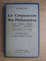 Giovanni Papini - Le crepuscule des philosophes (1922)
