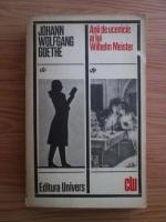 Goethe - Anii de ucenicie ai lui Wilhelm Meister