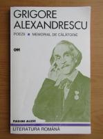 Grigore Alexandrescu - Poezii. Memorial de calatorie