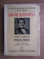 Grigorie Alexandrescu - Opere contemporane, Poezii si proza (1940)