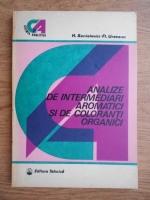 H. Sanielevici, Florian Urseanu - Analize de intermediari aromatici si de coloranti organici