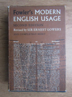 H. W. Fowler - A dictionary of modern english usage