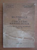 Anticariat: Hadrian Daicoviciu - Materiale si cercetari arheologice. A XVI-a sesiune anuala de rapoarte Vaslui 1982