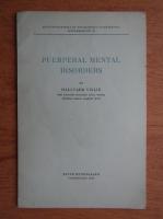Anticariat: Hallvard Vislie - Puerperal mental disorders