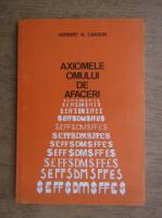 Anticariat: Herbert Casson - Axiomele omului de afaceri