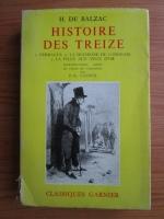 Honore de Balzac - Histoire des treize