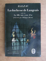Anticariat: Honore de Balzac - La Duchesse de Langeais