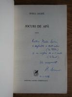 Anticariat: Horia Arama - Jocuri de apa (cu autograful autorului)