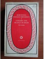 Hortensia Papadat Bengescu - Concert din muzica de Bach (trei romane)
