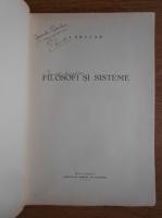 Anticariat: I. Brucar - Filosofi si sisteme (1933, cu autograful autorului)