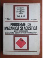 Anticariat: I. Druica Zeletin - Probleme de mecanica si acustica