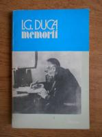 Anticariat: I. G. Duca - Memorii (volumul 2)