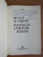 Anticariat: I. Hangiu - Reviste si curente in evolutia literaturii romane (cu autograful si dedicatia autorului pentru Balogh Jozsef)