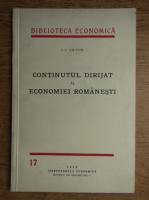 Anticariat: I.I. Tatos - Continutul dirijat al economiei romanesti (1939)