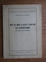 Anticariat: I. S. Antoniu - Note de curs la bazele teoretice ale electrotehnicii