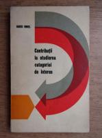 Anticariat: Iancu Ionel - Contributii la studierea categoriei de interes