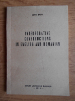 Ileana Baciu - Interrogative constructions in English and Romanian