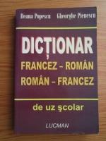 Ileana Popescu - Dictionar Francez-Roman, Roman-Francez de uz scolar