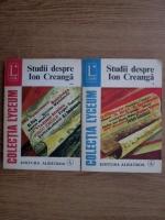 Anticariat: Ilie Dan - Studii despre Ion Creanga (2 volume)