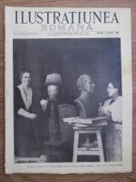Ilustratiunea Romana, nr. 16, an VII, 10 aprilie 1935. La palatul Cotroceni: M. S. Regina Maria, pozand sculptoritei Militza Patrascu
