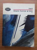 Immanuel Kant - Despre frumos si bine, volumul 2