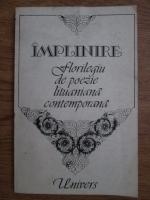 Anticariat: Implinire, florilegiu de poezie lituaniana contemporana