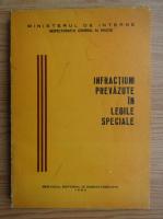 Infractiuni prevazute in legile speciale