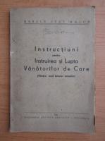 Instructiuni pentru instruirea si lupta vanatorilor de care (1943)