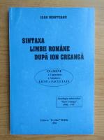 Ioan Munteanu - Sintaxa limbii romane dupa Ion Creanga