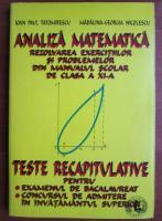 Ioan Paul Tatomirescu - Analiza matematica. Rezolvarea exercitiilor si problemelor din manualul scolar de clasa a XI-a