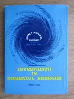 Anticariat: Ioan Ursu - Investigatii in domeniul energiei (volumul 1)