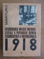 Ion Ardeleanu - Desavarsirea unitatii national-statale a poporului roman. Recunoasterea ei internationala (volumul 5)