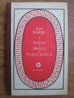 Anticariat: Ion Barbu - Poezii, proza, publicistica