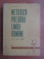 Ion Berca - Metodica predarii limbii romane (citit-scris, citire)