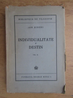 Anticariat: Ion Biberi - Individualitate si destin (volum 2, 1945)