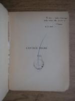 Ion Caraion - Cantece negre (cu autograful autorului, 1946)