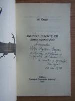 Anticariat: Ion Cepoi - Amurgul cuvintelor (cu autograful autorului)