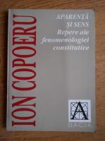 Ion Copoeru - Aparenta si sens. Repere ale fenomenologiei constitutive