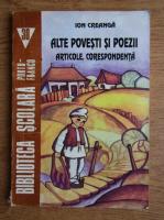 Anticariat: Ion Creanga - Alte povesti si poezii. Articole. Corespondenta