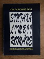 Anticariat: Ion Diaconescu - Sintaxa limbii romane