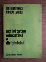 Ion Dumitrescu - Activitatea educativa a dirigintelui