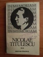 Ion Grecescu - In memoriam Nicolae Titulescu